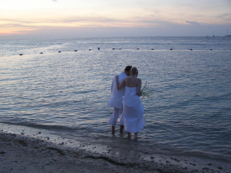 My husband and I after our wedding on July 6th 2009.